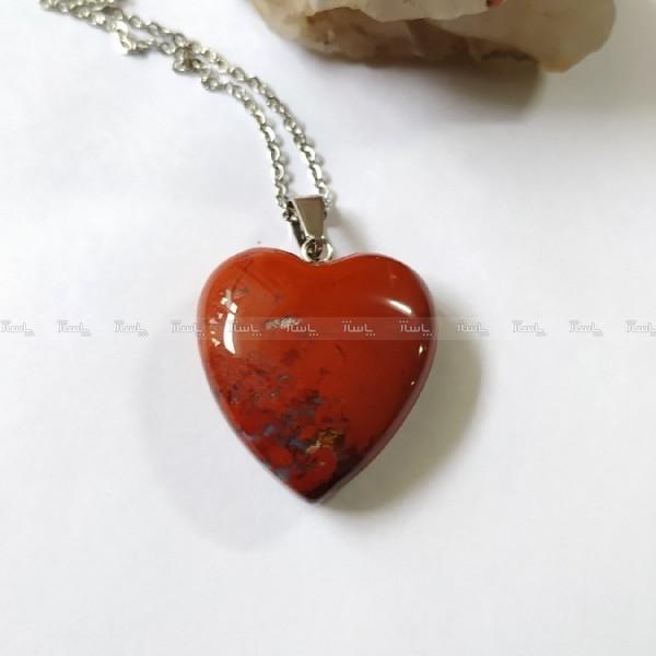 گردنبند سنگ جاسپر طرح قلب-تصویر اصلی