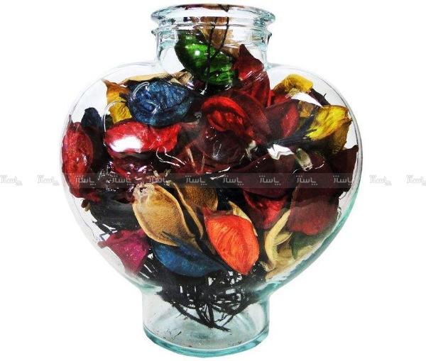 گل خشک کادویی طرح عشق مدل ظرف شیشه ای-تصویر اصلی