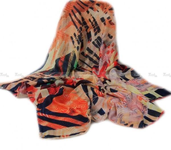 روسری پائیزی دور دست دوز-تصویر اصلی