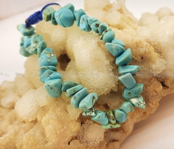 دستبند سنگ هائولیت آبی ولنتاین کد d153-تصویر اصلی
