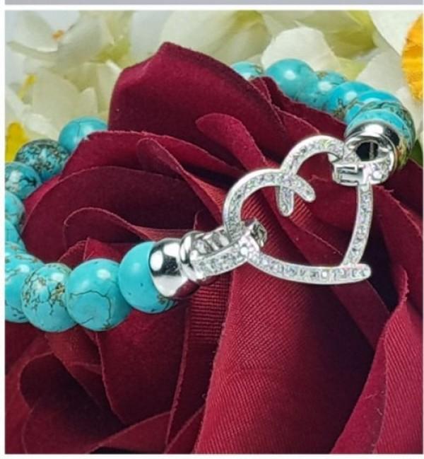 دستبندسنگ فیروزه معدنی-تصویر اصلی