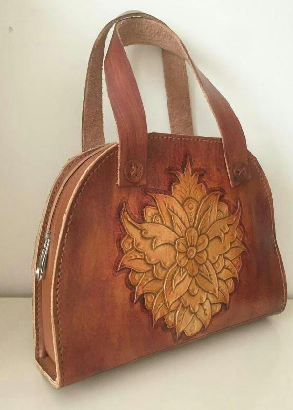 کیف زنانه چرمحکاکی شده-تصویر اصلی