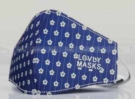 ماسک تنفسی سرمه ای گلدار-تصویر اصلی