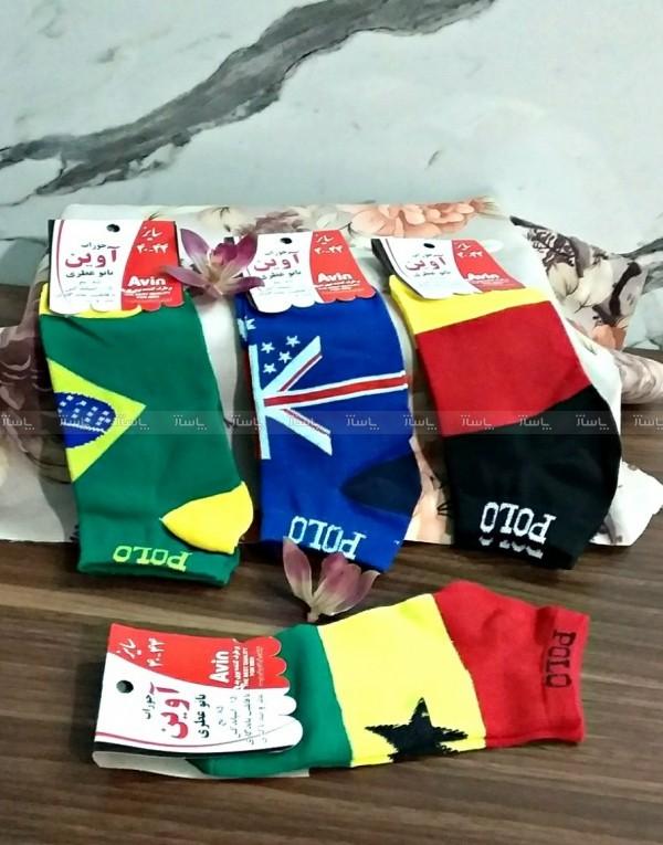 جوراب پرچمی پک ۴تایی-تصویر اصلی