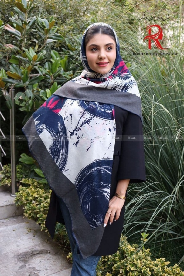 روسری نیلا رنگبندی ۲-تصویر اصلی
