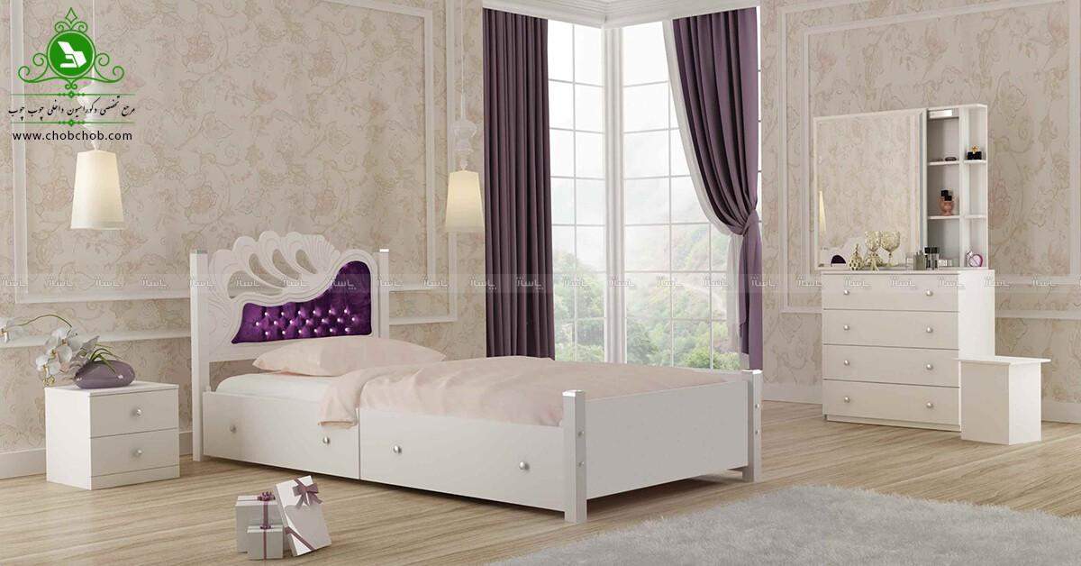 تخت خواب یک نفره مدل والریا-تصویر اصلی