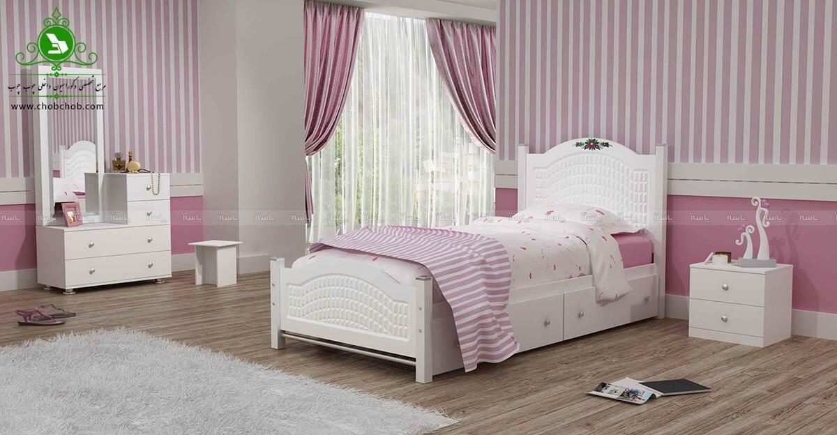 تخت خواب یک نفره مدل روما-تصویر اصلی
