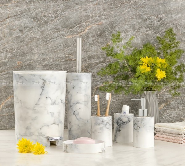 ست سرویس بهداشتی طرح سنگ ۶ تکه لیمون-تصویر اصلی