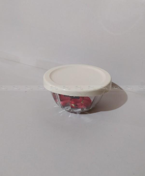 کاسه گرد شیشه ای دربدار کوچک لیمون-تصویر اصلی
