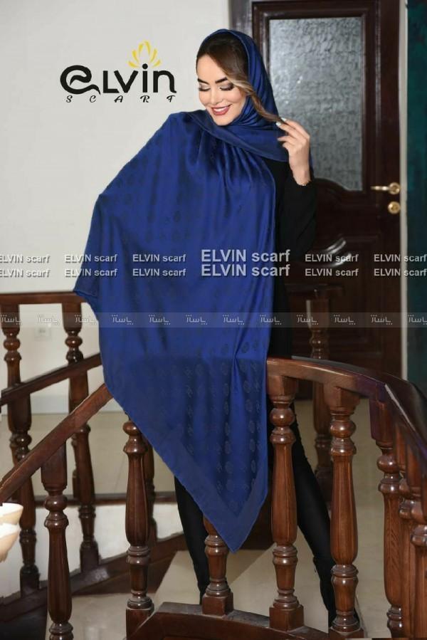 روسری نخ طرح شنل با گل-تصویر اصلی