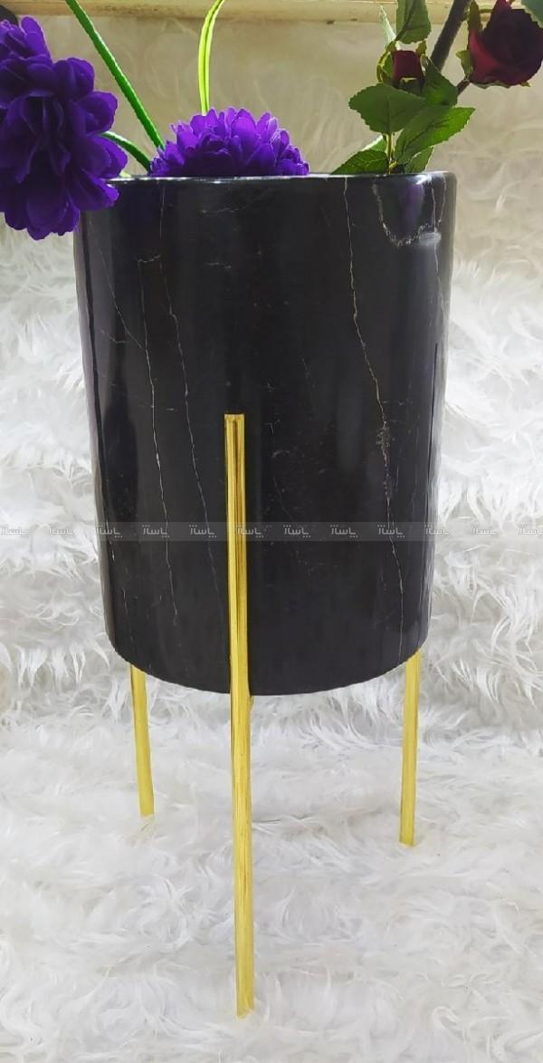 گلدان سنگی همراه با پایه میخی رنگ ثابت-تصویر اصلی