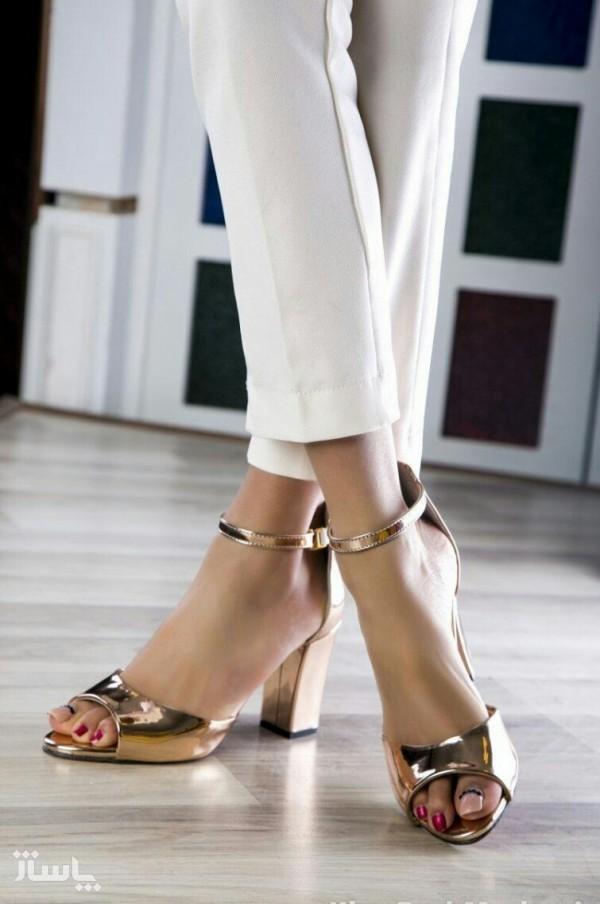 کفش مجلسی نقره ای و طلایی-تصویر اصلی