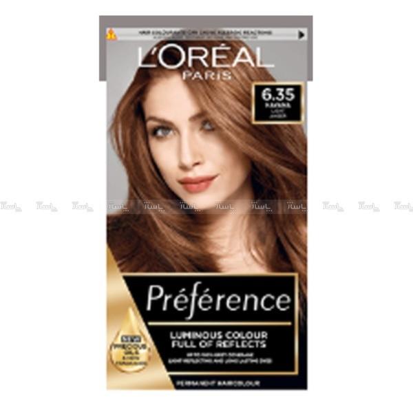 کیت رنگ مو لورآل مدل Excellence حجم 48 میلی لیتر شماره 6.35-تصویر اصلی