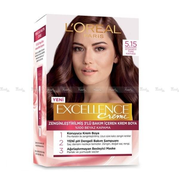کیت رنگ موی لورآل پاریس مدل Excellence شماره 5.15-تصویر اصلی