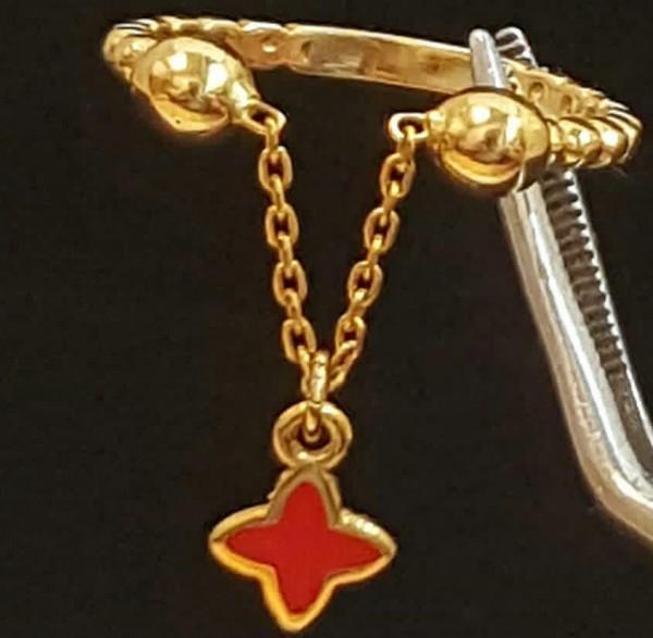 انگشتر طلا کم اجرت 18 عیار-تصویر اصلی