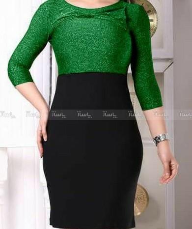 لباس مجلسی زنانه کوتاه جنس پارچه لمه-تصویر اصلی