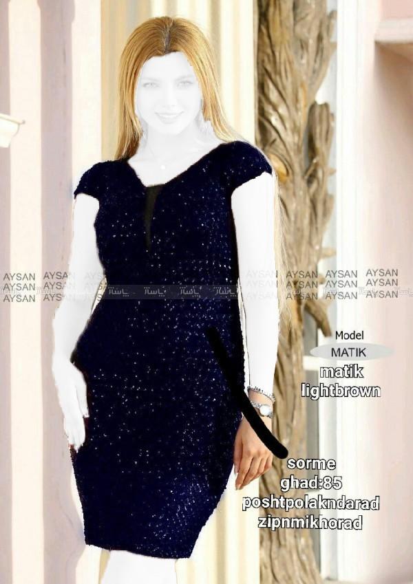 لباس ماتیک تونیک جنس کرپ کش-تصویر اصلی