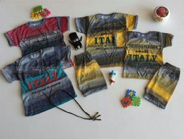 ست تی شرت و شرت راه راه پسرانه-تصویر اصلی