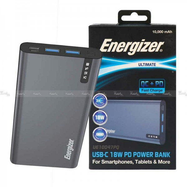 پاوربانک فست شارژ انرجایزر ظرفیت 10000 مدل Energizer UE10047PQ-تصویر اصلی