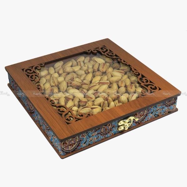جعبه آجیل خشکبار جعبه پذیرایی جعبه چوبی کد LBL055-تصویر اصلی