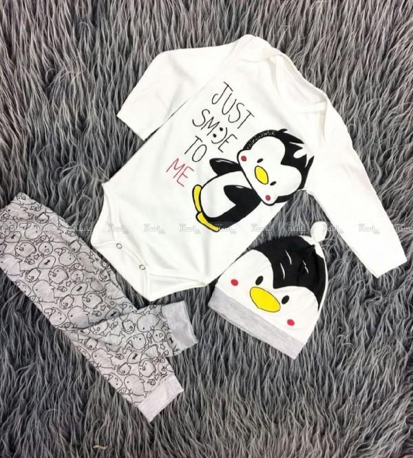 سه تیکه نوزادی طرح پنگوئن کوچولو-تصویر اصلی