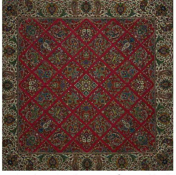 ترمه طرح سلطنتی رنگ قرمز-تصویر اصلی