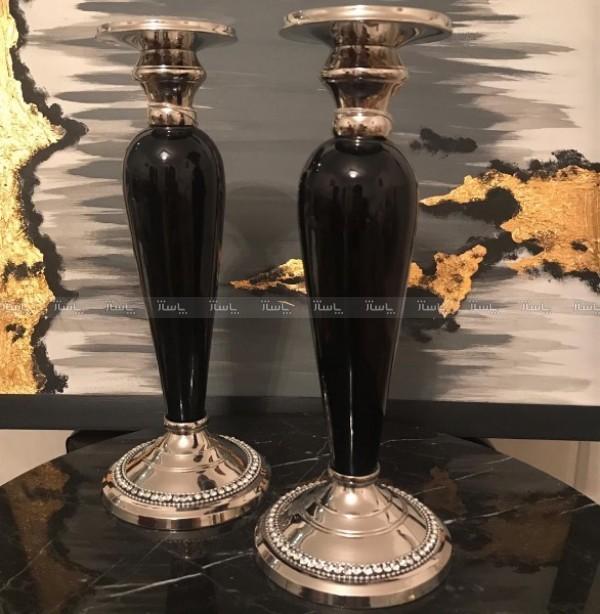 یک جفت شمعدان کاردست هند-تصویر اصلی