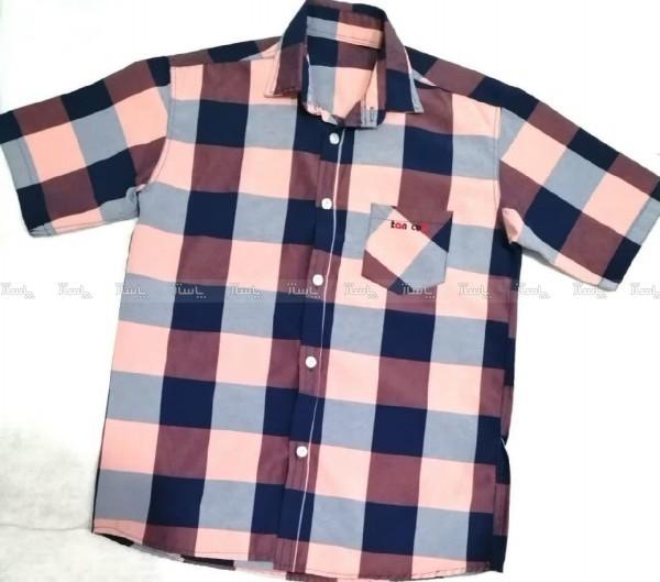 پیراهن پسرانه چهارخونه-تصویر اصلی