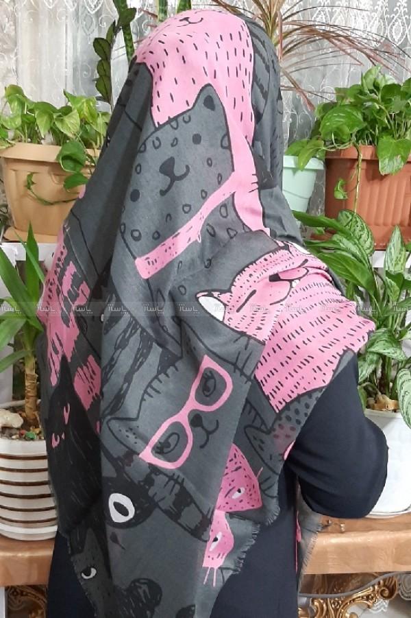 روسری نخی جدید طرح گربه ای-تصویر اصلی
