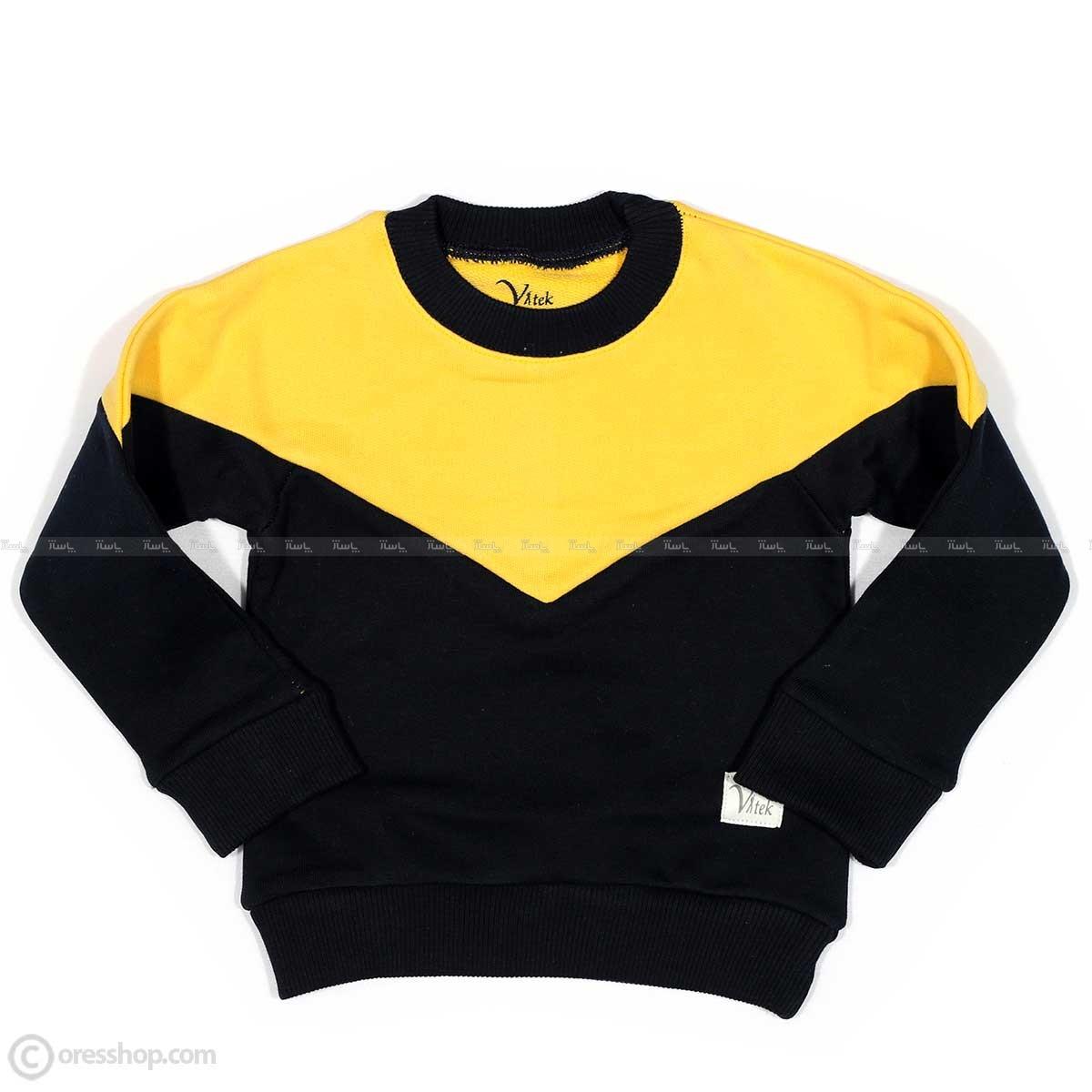 بلوز تک پسرانه زرد سرمهای-تصویر اصلی