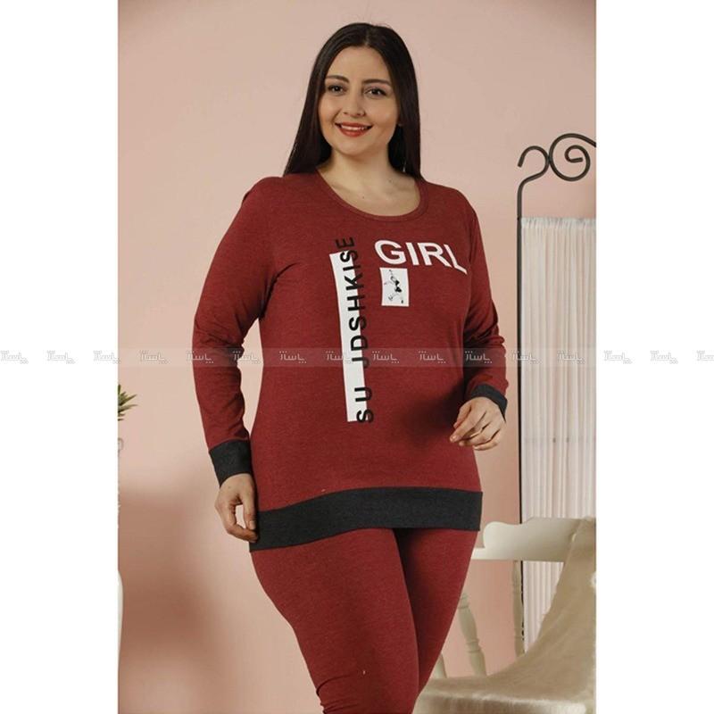 بلوز شلوار سایز بزرگ سکسن طرح girl-تصویر اصلی