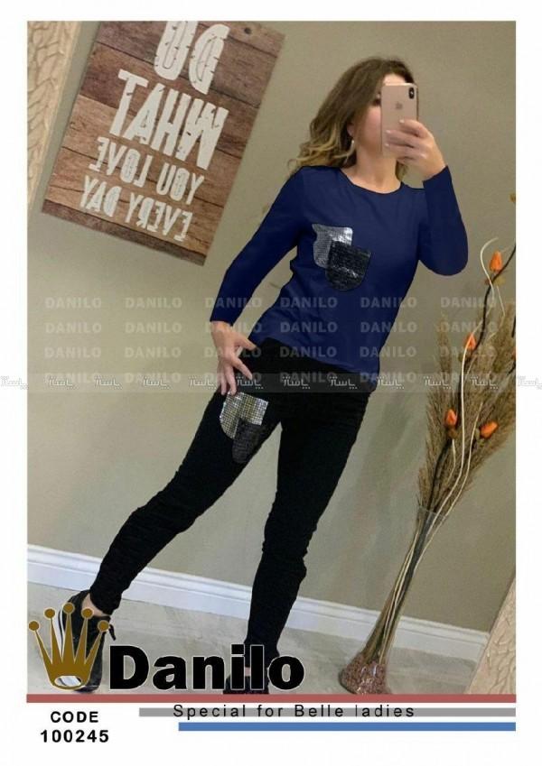 ست یلوز شلوار جیب آینه ای جدید زنانه-تصویر اصلی