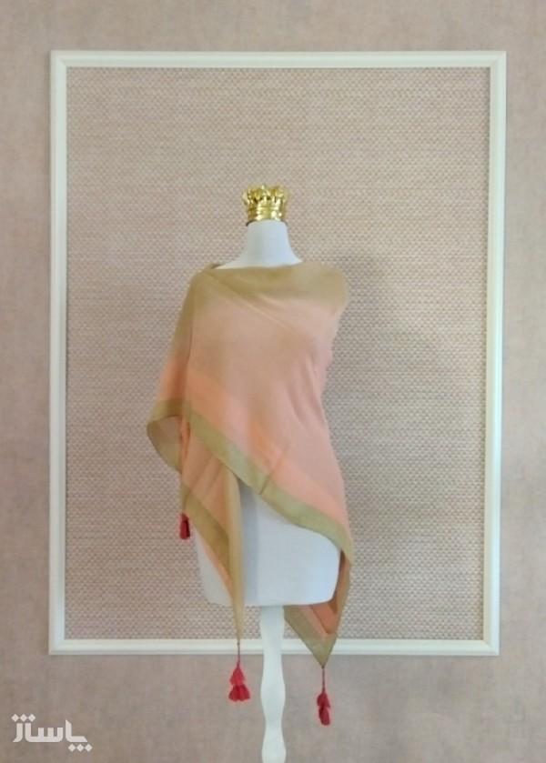 روسری نخی منگوله دار ابرنگی-تصویر اصلی