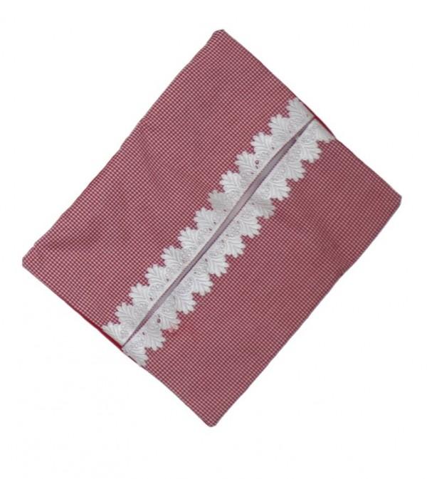کاور دستمال کاغذی طرح چهارخانه قرمز-تصویر اصلی