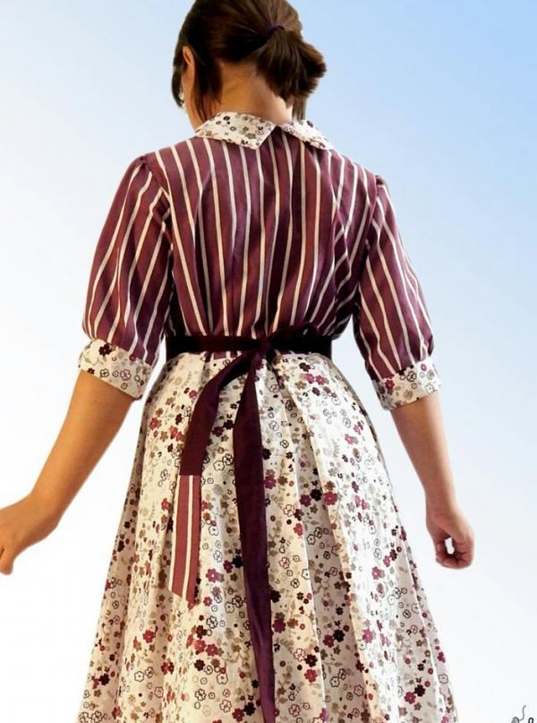 پیراهن دخترانه برای سنین ۷،۸،۹ ،۱۰ ساله-تصویر اصلی