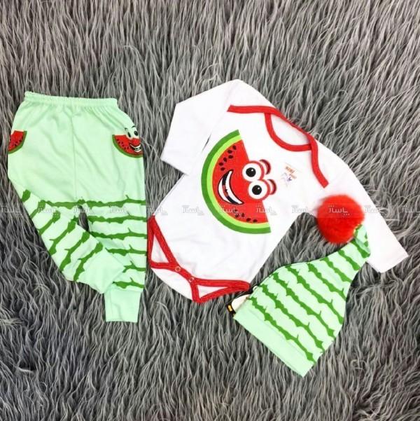 سه تیکه نوزادی طرح یلدا (طرح هندوانه )-تصویر اصلی