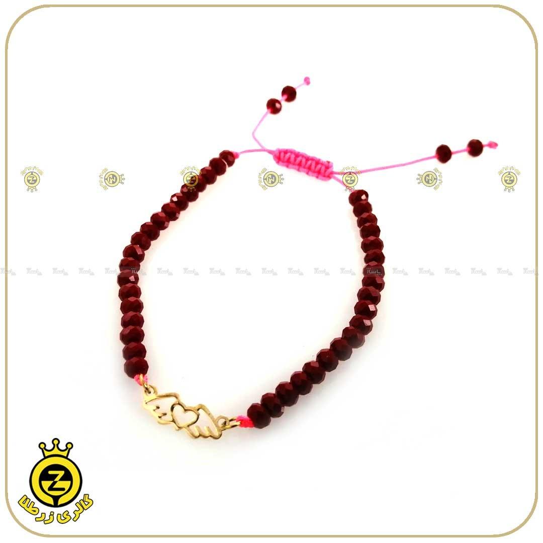 دستبند طلا سنگی طرح قلب و بال 2-تصویر اصلی