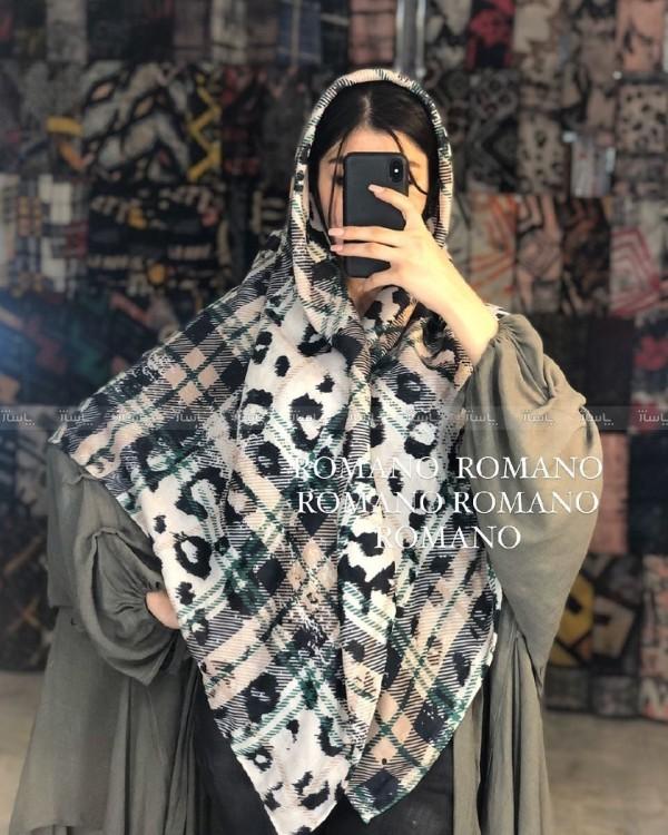 روسری دور دست دوز پاییزه - بهاره-تصویر اصلی