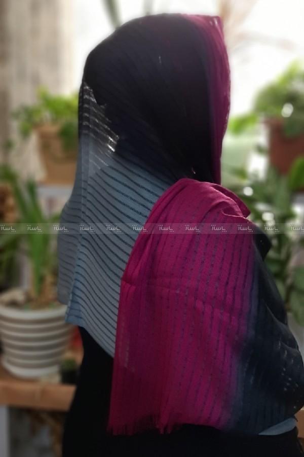 شال نخی اعلا طرح رنگین کمان-تصویر اصلی