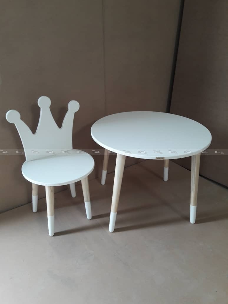 میز و صندلی تاج سفید-تصویر اصلی