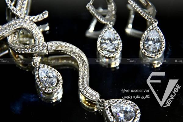 سرویس نقره : دستبند، گردنبند و گوشواره-تصویر اصلی
