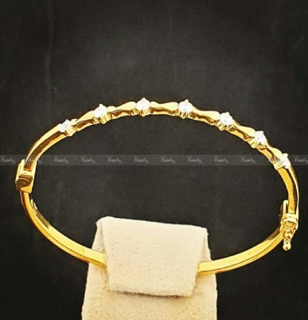 دستبند النگویی طلا 18 عیار-تصویر اصلی