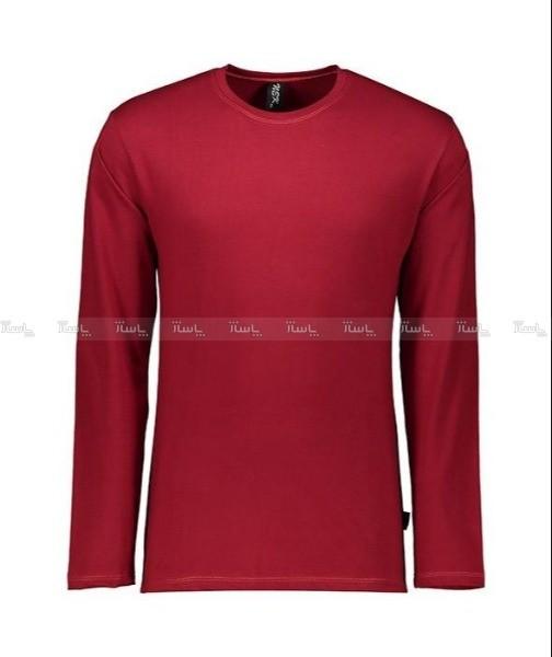 تی شرت آستین بلند مردانه زرشکی NEEK-تصویر اصلی