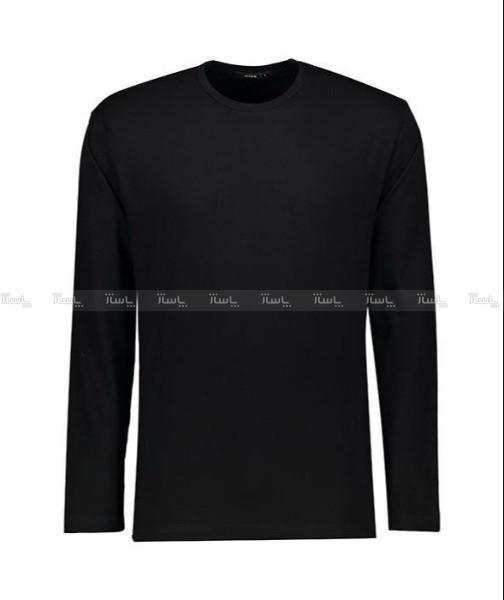 تی شرت مردانه آستین بلند مشکی ساده NEEK-تصویر اصلی
