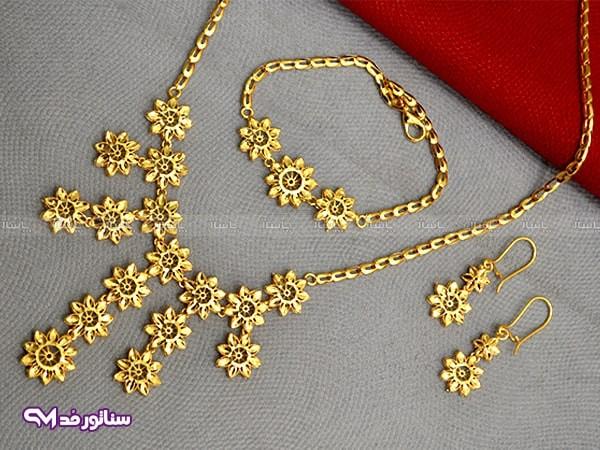 سرویس زنانه طرح طلا N8084-تصویر اصلی