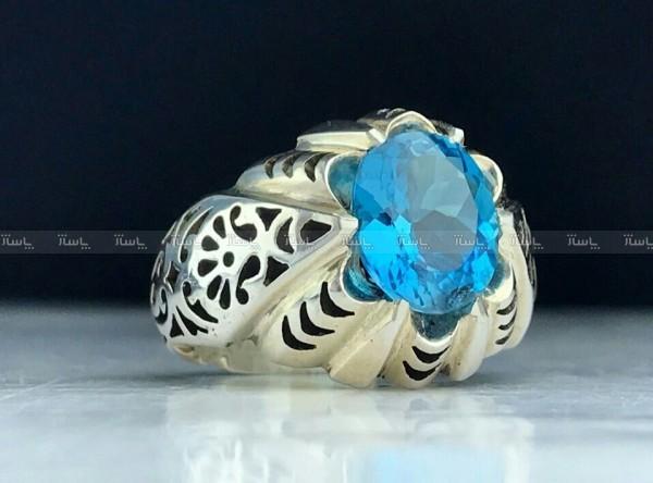 انگشتر توپاز آبی اصل-تصویر اصلی
