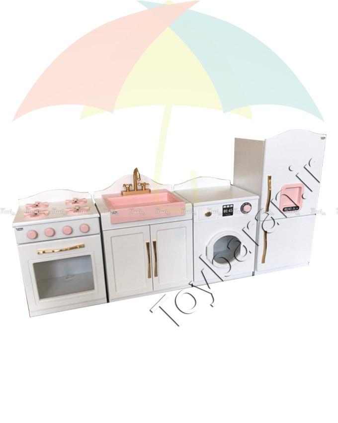 آشپزخانه چوبی کودک 4 تکه-تصویر اصلی