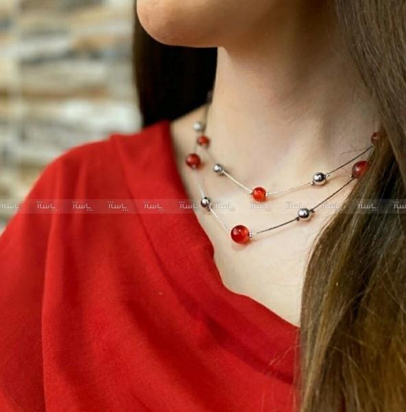 گردنبند دو زنجیره Argento e rosso-تصویر اصلی