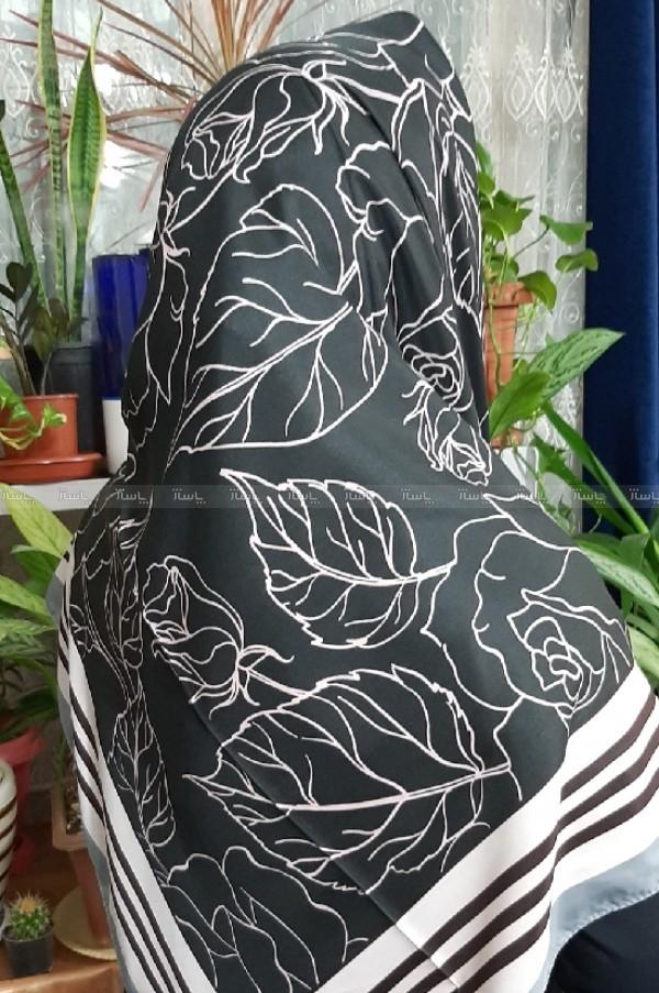 روسری ساتن اعلا طرح گل دار-تصویر اصلی