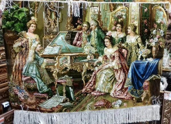 تابلو فرش پیانو زن-تصویر اصلی